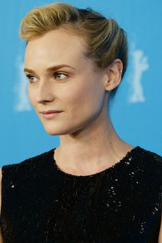 Diane Kruger Has Found 2014's Version of a Grace Kelly Updo also great makeup