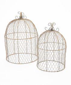 Look what I found on #zulily! Rusty Zinc Chicken Wire Garden Dome - Set of Two by Kraft Klub #zulilyfinds