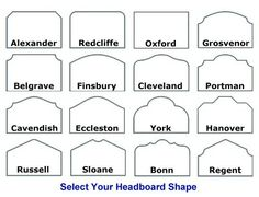 Select Your Headboard Shape