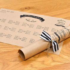 おしゃれDIY♪クラフト席次表「ジュール」(入力印刷込・両面印刷)│結婚式 |結婚式&アイテムプレゼントギフト|ファルベFARBE(本店)