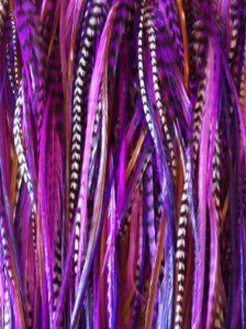 "5""-7"" Purple, Violet,grizzly & Brown Feathers for Hair Extension with 2 Silicone Micro Crimp Beads(one Extension 5 Feathers) SEXY SPARKLES http://www.amazon.com/dp/B006Z05HA2/ref=cm_sw_r_pi_dp_LIi1tb03AFEEFPWM"