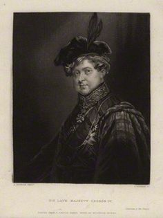 H.M. King George IV, drawn posthumously by John Rogers, after A.M. Huffam mezzotint, mid 19th century.
