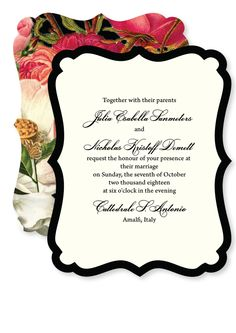 Floral Wedding Invitations [Floral Wedding Invitations] - £3.00 : Wedding Invitations, Wedding Stationery, Handmade Wedding Invitations