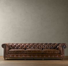 Restoration Hardwear is doing sofas for small spaces. Maybe I can have that chesterfield sofa I've been dreaming about!