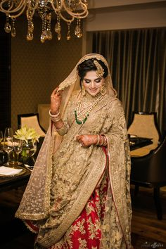 Red and gold lehenga bridal Gold Lehenga Bridal, Indian Bridal Lehenga, Pakistani Dress Design, Pakistani Wedding Dresses, Best Wedding Dresses, Lehenga Wedding, Desi Wedding, Wedding Bride, Wedding Ideas