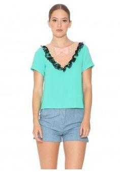 Shirt Mottled Mint