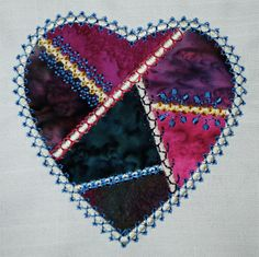 Crazy Patch Tutorial: How To Embroider A Crazy Heart Two Ways