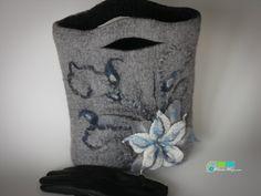 Felt bag Stone flower ♥ by handmaderu on Etsy