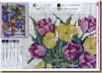 CROSS STITCH FLOWERS AND SCENES