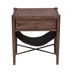 Modern Retro Style Distressed Cherry End Table (Brown)