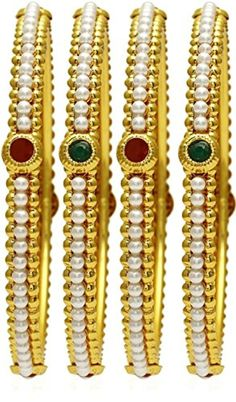 Women Fashion Gold Plated Indian Bangles Party wear Traditional Jewellery (2.8) -- Awesome products selected by Anna Churchill