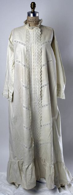 American cotton nightgown 1870's