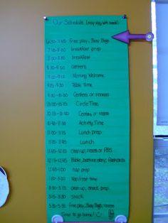My Preschool Daze: daily schedule