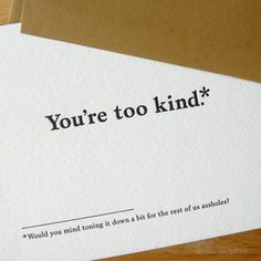 Thank you card - Old Tom Foolery - Read the fine print - hilarious!!