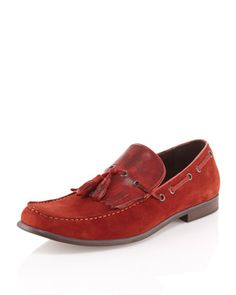 Wake-Up Call Kiltie Loafer, Antique Red by Kenneth Cole at Last Call by Neiman Marcus.