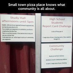 Pizza place owner deserves a high-five…