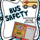 {Bus Safety Craftivity} School bus safety is something that EVERY teacher talks about at the beginning of the school year! This cute little school bus craft makes an adorable bulletin board and will get your students thinking and writing about bus safety.