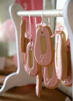 Ballet shoe cookies-- party favors?