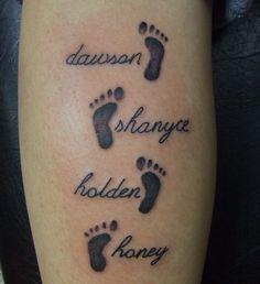 baby footprint tattoo