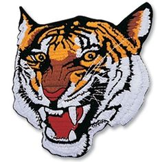 Tiger face patch on sale at KarateMart. Buy some martial arts tiger patches for your students uniforms or a karate tiger patch to wear on a school t-shirt. Tiger Design, Design Design, Tiger Claw, Logo Samples, Motorcycle Vest, Hockey Logos, Tiger Face, Color Crafts, Fabric Patch