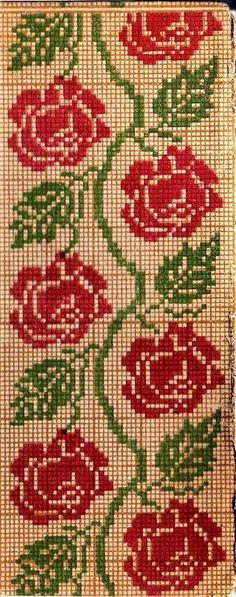 Cross Stitch 1 - Set 2 - - Flowers - Designs - by Meh - Very Few Jump Stitches to None at All Easy Cross Stitch Patterns, Simple Cross Stitch, Cross Stitch Borders, Cross Stitch Rose, Cross Stitch Flowers, Cross Stitch Designs, Cross Stitching, Folk Embroidery, Cross Stitch Embroidery