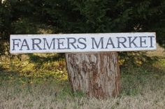 Farmers Market sign ,40 inches long, fixer upper style, vintage sign, reclaimed wood
