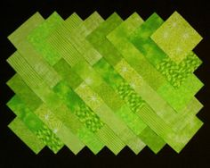 Bright Green Quilt Squares