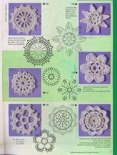 Flores de crochê - 3Tatayna- embroidery, knitting - Picasa Web Albums..really pretty motifs!!