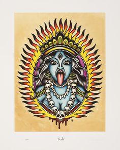 Krishna Tattoo, Kali Tattoo, Full Back Tattoos, Pin Up Tattoos, Pinup Art, Tattoo Deus, Cherry Blossom Drawing, Dessin Old School, Traditional Tattoo Old School