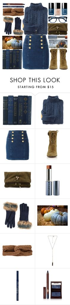 """Blue Pumpkin"" by grozdana-v ❤ liked on Polyvore featuring Balmain, Gianvito Rossi, Dsquared2, Vapour Organic Beauty, UGG, rag & bone, Chanel, Natalie B, Too Faced Cosmetics and Charlotte Tilbury"