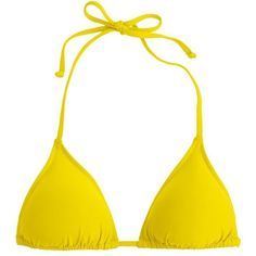 J.Crew String Bikini Top ($43) ❤ liked on Polyvore featuring swimwear, bikinis, bikini tops, g string bikini, swimming bikini, string bikini tops, j crew swim wear and swim wear