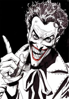 Batman: The Killing Joke. Joker color study by the iconic story's artist, Brian Bolland.