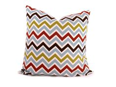 Pillow Covers Decorative Pillow Cover. Blue ,White,Green,Red Multi Chevron. 18x18