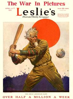 Leslie's Weekly   Apr 27 1918 by  Clyde Forsythe
