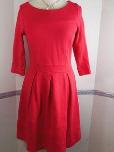Boden Dress Size 8 Dark Pink Azalea cotton elastane blend knee-length 3/4 sleeve #Boden #Sheath #WeartoWork