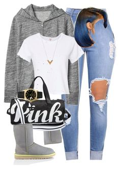 A fashion look from January 2017 featuring zipper hoodies, cropped shirts and ripped skinny jeans. Browse and shop related looks. Swag Outfits For Girls, Lazy Day Outfits, Cute Swag Outfits, Sporty Outfits, Dope Outfits, Pretty Outfits, Girl Outfits, Summer Outfits, Fashion Outfits