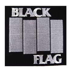Black Flag American hardcore heavy metal punk rock band Embroidered Iron On Patches, http://www.amazon.com/dp/B00HW22RA0/ref=cm_sw_r_pi_awdm_CT7Pwb0VB759M