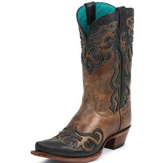 My Birthday present....i love them! Just the perfect amount of black and brown to go with a ton of different outfits! Women's Tony Lama Sienna Lasso Cowgirl Boots