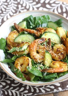 Shrimp & Bok Choy Salad with Vietnamese Dressing by SeasonWithSpice.com @Season with Spice - an Asian Spice Shop