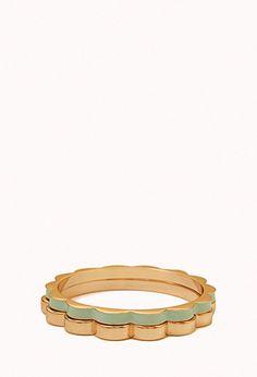 Scalloped Bracelet Set | FOREVER21 - 1076740201