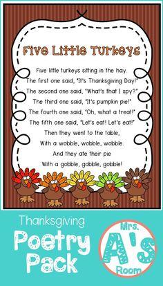 Thanksgiving Poems for Preschool   Mrs. A's Room