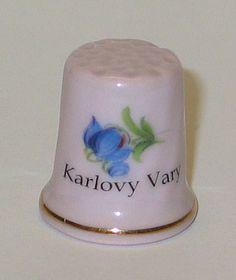 rep. checa Thimble, Buttons, Enamels, Porcelain Ceramics, Sewing, Plugs