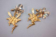 Vintage Kirk's Folly Gold Tone Fairy Pierced Earrings! #KirksFolly