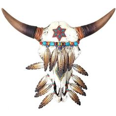 Western Iron Feathered Skull Wall Decor This resin skull with iron feathers is sure to make a western statement on your walls or mantel. Ready to hang. American Indian Tattoos, American Indian Art, Native American Art, Painted Animal Skulls, Deer Skulls, Cow Skull Art, Indian Artwork, Buffalo Skull, Rustic Western Decor