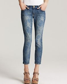 Current/Elliott Jeans - The Stiletto Jean in Blue Rose | Bloomingdale's