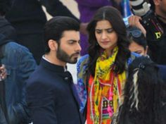 Fawad Khan And Sonam Kapoor On The Sets Of Upcoming Bollywood Movie 'Khoobsurat'