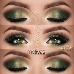 @triiangleh green makeup for green eyes