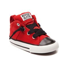Shop for Toddler Chuck Taylor Axel Mid Sneaker in Red Black at Journeys Kidz. Shop today for the hottest brands in mens shoes and womens shoes at JourneysKidz.com.Add a pop of color to your style with the Chuck Taylor Axel Mid! This fun and hip new style from Converse Chuck Taylor features a breathable red mid top canvas upper, color contrasting lace up closure and toe guard, padded tongue and ankle collar, and durable rubber outsole. Available only online at JourneysKidz.com!