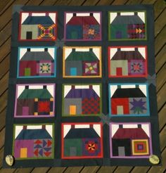Quiltycat's house sampler <3 by leigh