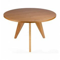 Natural Replica Jean-Prouvé Round Dining Table 120cm - $451 - Dandenong
